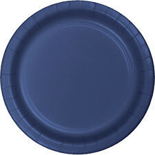"""24 Navy Blue Wedding Birthday Party Tableware 9"""" Paper Lunch Plates"""
