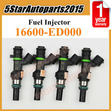 4pc OEM 16600-ED000 FBY1160 Fuel Injector Nozzle for Nissan Versa 1.6L 2009-2011