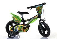 "Dino Dinosaur 12"" Kids Single Speed Bike Boys First Bicycle Stabilisers 612L-DS"
