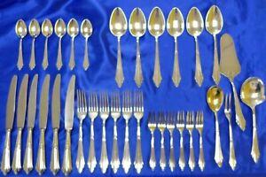 WMF 900 Fächermuster Tafelbesteck 34 tlg. für 6 Personen 90 / 100  Silberauflage
