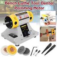 350W Polishing Machine + Cloth Wheel For Bench Lathe Tool Dental Polishing Motor