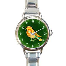 Reloj de cuarzo pájaro mágico pulsera con dijes analógico artística encanto regalo de la batería