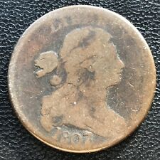1807 Over 6 Large Cent Draped Bust One Cent Circulated 1807/6 Overdate #7593