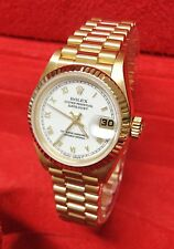 Rolex Datejust 26mm 69178 Yellow Gold Box And Papers 1995 SERVICED BY ROLEX