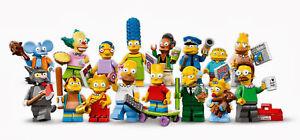 Lego Figurine Minifigure The Simpsons 1 - Série 71005 - Choose Minifig -Au choix