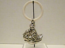 Baby Rattle & Teething Ring Sterling Silver Child Riding Duck