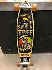 """38.5"""" Sector Nine 'Save a Tree, Ride a Weed' Longboard Complete, Gullwing Trucks"""