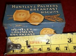Small vintage sample biscuit tin vgc