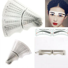 Pro 12 Eyebrow Grooming Shaping Stencil Kit Eye Brow Shaper Makeup Template Tool