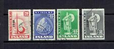 ICELAND - 1940 NEW YORK WORLD'S FAIR OVERPRINTS - SCOTT 232 TO 235 - USED
