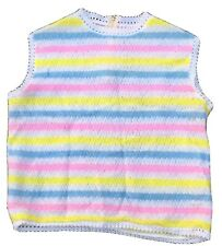 Vintage Anita Rainbow Acrylic Shell Tricot Lined Sweater L 50s 60s Rn 33948