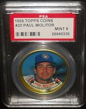 PSA 9 MINT 9 - #20 Paul Molitor 1988 Topps Coins Milwaukee Brewers