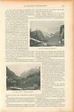 Alpage Schwarzsee Suisse Vallée de Zermatt/Ambulance GRAVURE ANTIQUE PRINT 1905