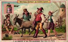 complete set c1892 The Miller & son Donkey advertising litho chromo cards
