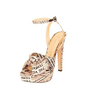 RRP€735 CHARLOTTE OLYMPIA TIFFANI Ankle Strap Sandals Size 40 UK 7 US 10 Gazette