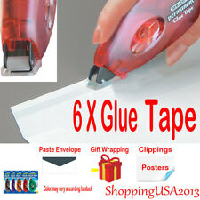 6Pcs Bazic Glue Tape Adhesive Roller Permanent 0.31�X8.74 yrd. home office Paste