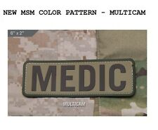 "Patch - Milspec Monkey - MEDIC - ID - MULTICAM ARID - 6 "" x 2 "" PVC Hook & Loop"