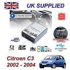 Para Citroen C3 SD USB CD AUX entrada adaptador de Audio Digital Módulo de cambiador de CD RD3