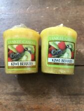 2-Yankee Candle Votive Candles scented1.75 Oz Each Kiwi Berries