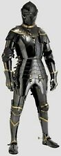 Stainless Steel Medieval Knight Suit Of Armor Combat Full Body Armour Halloween