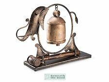 ELEPHANT GONG/BELL WITH HAMMER MADE FROM RECYCLED IRON - 35x10x26cm - MEDITATION