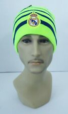Real Madrid FC BEANIE Sports Soccer Cap Knit Hat Neon Yellow New