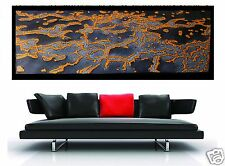 Large Golden Reef  210cm wide Modern Aboriginal Seascape Design By Jane