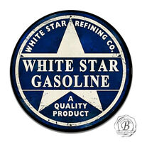 Vintage Design Sign Metal Decor Gas and Oil Sign - White Star Refining Company