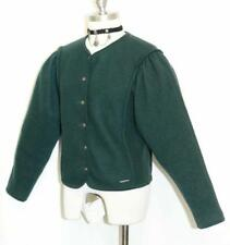 "GEIGER BOILED JACKET WOOL GREEN Women Austria WINTER Cardigan Dress Walk S B36"""