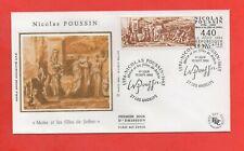 """FDC Septembre 1994 - Nicolas POUSSIN - """"Moïse et les filles de Jethro""""  (627)"""