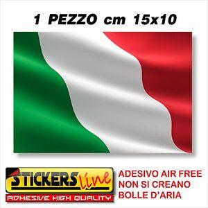 Adesivo BANDIERA ITALIANA cm15x10 adesivi bandiera italiana tricolore ITALIA