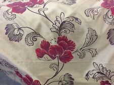 Designers Guild Brown Floral Silk By The Metre