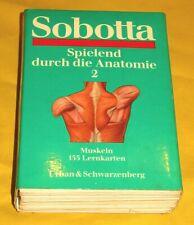 """Sobotta Lernkarten """"Spielend durch die Anatomie"""" + Teil 2 + Anatomie"""
