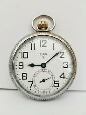 Elgin Grade 575 Size 16s 15J Railroad Style Pocket Watch Runs Just Cleaned Oiled