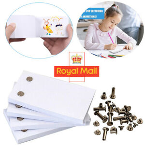 1/4Pack Blank Flip Book Paper With Holes 240 Sheets Flipbook Animation Paper UK