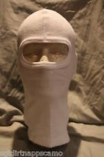 Thermal Winter White Face Veil Balaclava  one hole