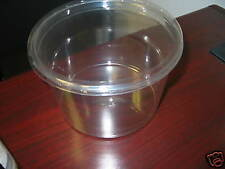 Plastic Disposable Ice Buckets (12)  64oz Tubs W/Lids