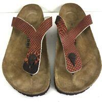 Tatami Birkenstock Brown Leather Slip On Sandals Womens Size EUR 41