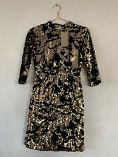 Zara Black And Gold Sequin Sequinned Dress. Size S