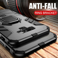 For Samsung Galaxy S8 S9 S10 Plus A6 A7 A8 2018 Shockproof Armor Ring Stand Case