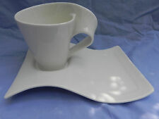 Villeroy & and Boch NEW WAVE CUP  10cm x 11cm Tall & SAUCER, Excellent.