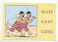 Carte postale TINTIN. Alles Gaat Goed. Les Dupondt. TOURING ASSISTANCE 1992