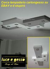 lampadario moderno led plafoniera a soffitto in cartongesso faretti orientabili