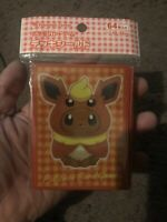 Pokemon center JAPAN - Eevee poncho Flareon card Deck Shields (64 Sleeves)