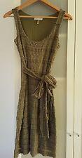 PROMOD lace bodycon dress with Sash - Sz 8 khaki green