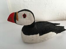 """ATLANTIC PUFFIN PROFILE poster BLACK WHITE RED SEABIRD /""""sea rooster/"""" 24x36"""