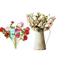 Roses Artificielle Pivoine Fausse Soie Fleurs Bouquet Mariage Décor À La Maison