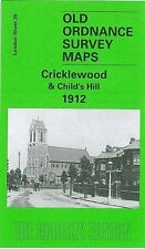 Carte de Cricklewood & Child's Hill 1912