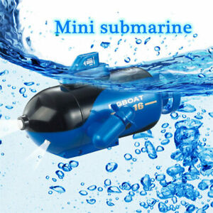 Mini RC Electric Racing Submarine Radio Remote Control LED Diving Boat Toy Gift
