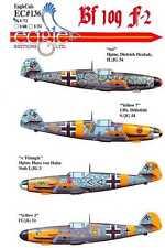 EagleCals Decals 1/72 MESSERSCHMITT Bf-109F-2 Fighter JG3 JG51 & JG54